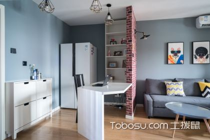 公寓装修效果图40平米,简约装修别有一番风味