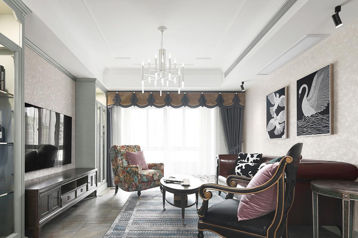 芜湖142平欧式风格装修案例,家居空间给人端庄典雅之感