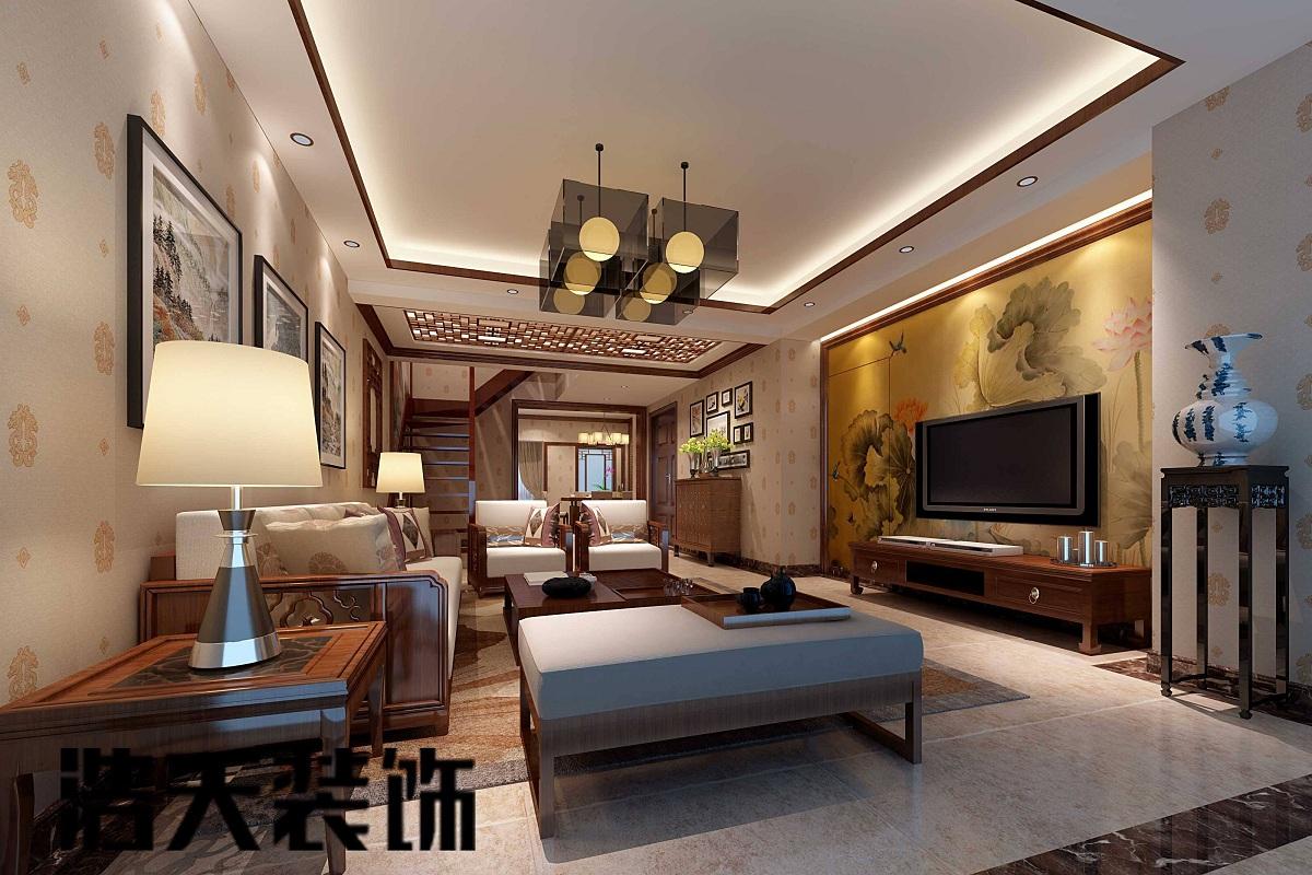 复古式客厅装修效果图,古风韵味浓厚