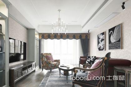蕪湖142平歐式風格裝修案例,家居空間給人端莊典雅之感