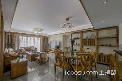 简单四居室中式装修效果图,感受禅意的原木家居空间