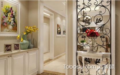 簡約風進門裝飾柜效果圖,一舉多得的設計