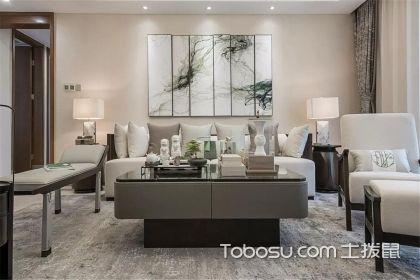 125平米三室兩廳裝修效果圖,新中式人家的淡雅生活