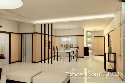 客廳與餐廳之間隔斷效果圖,讓家裝更富有美感
