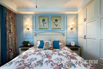 美式小戶型臥室顏色搭配案例,唯美又溫馨