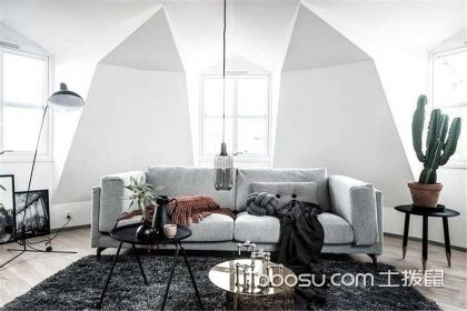 90平北欧风公寓装修设计,用黑白灰展现北欧情调