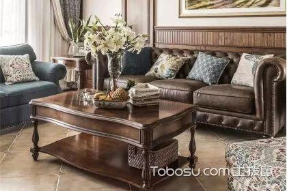 125平米复古美式装修效果图,一眼就被客厅迷住了