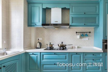 美式橱柜装修效果图,多彩厨房让生活更美好