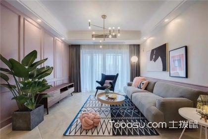 紫色客厅电视墙效果图,让时尚和优雅并存
