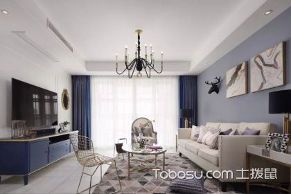 现代美式家装效果图,低调与奢华并存的典雅空间