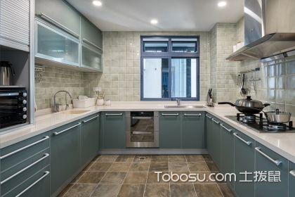 10平米U型廚房裝修效果圖,實用又時尚