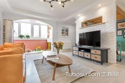 仿古砖电视背景墙效果图,让家居空间更具格调
