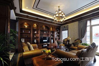 美式客厅博古架效果图,独具魅力的家居空间