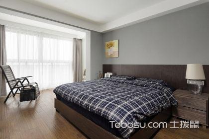 灰色卧室墙面效果图,美观又大气