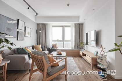 89平三室兩廳裝修案例,看原木風北歐三居效果圖