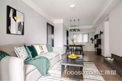 90平米现代风格房子装修图片,三室一厅户型装修设计效果图
