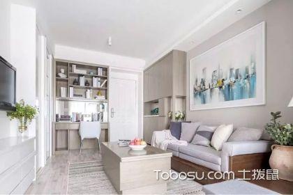 45平米二房一厅样板间,巧妙运用多功能家具营造一个舒适家
