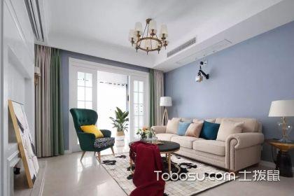120平三室两厅样板间,现代美式的优雅家居空间您也可以拥有