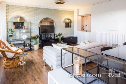 92平米三室一廳裝修圖,現代混搭風給您一個清新復古家