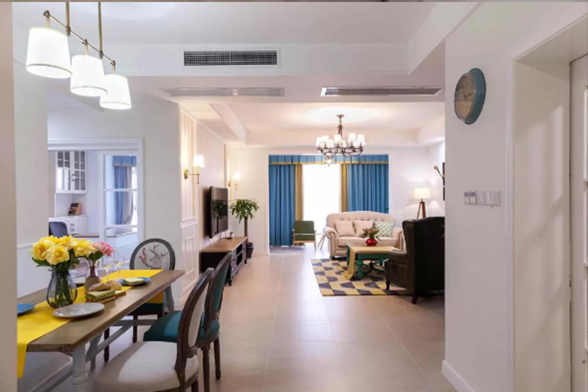 120平米美式风格装修效果图,优雅温馨的美式家你也可以拥有