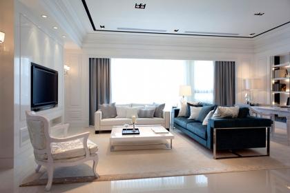 白色欧式风格设计,带您欣赏大户型欧式设计