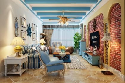 室内设计地中海风格设计说明,带您走进130平地中海家居设计