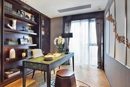 中式风格窗帘效果,书房窗帘需要这样搭!