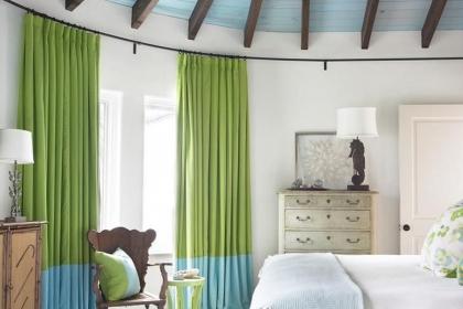 北歐風格窗簾效果圖,窗邊最靚麗的風景