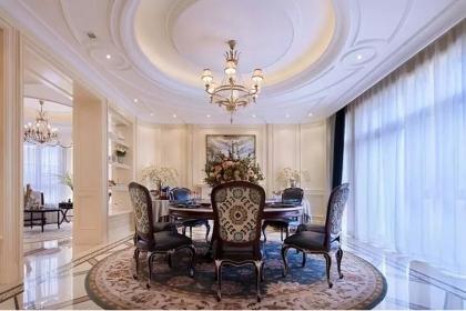 上海别墅装修设计图,欧式风格的华丽家居空间