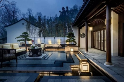 中式小庭院設計效果圖,最為雅致的私家小園林