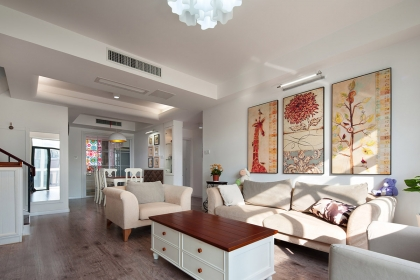 大户型家庭住房设计图片欣赏,美式风格随性又富有情韵