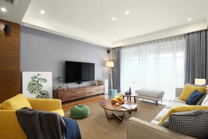 室內窗簾設計效果圖,北歐家居風格窗簾搭配案例