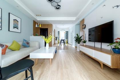 北欧三室两厅装修实景图,107平米北欧风格家居案例