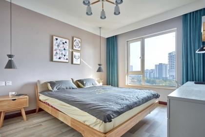 北欧装修风格窗帘,简约的设计温馨的家居