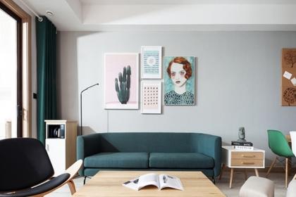 北欧风套房设计图三室一厅鉴赏,简单的装修最为舒服