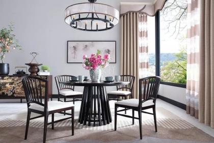 新中式裝修窗簾搭配技巧,讓家充滿東方優雅韻味