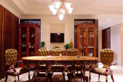 上海別墅裝修效果圖,感受歐式古典風格的沉醉奢華