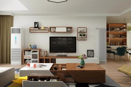 现代简约三居装修效果图,带给你清新绿色之家