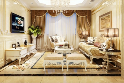 5款歐式客廳裝修效果,同樣的空間不一樣的品味展現