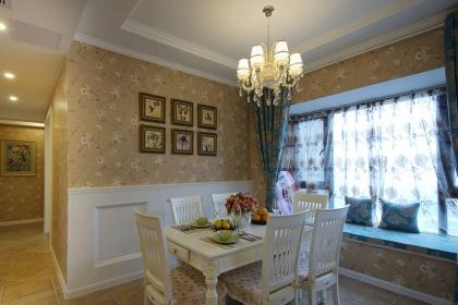 餐厅背景墙护墙板效果图赏析,给家人一个舒心的用餐环境