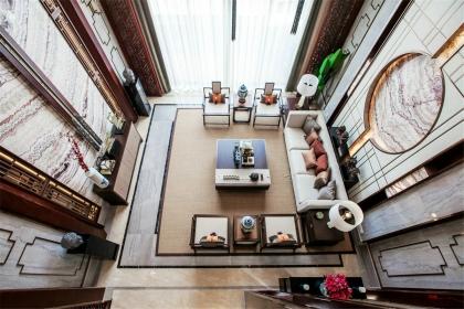 新中式風格客廳設計說明,新中式客廳效果圖欣賞