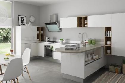 """简欧厨房效果图,给你一个""""色香味""""俱全的烹饪空间"""