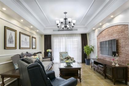 美式拱形门电视墙设计图欣赏,美观又时尚