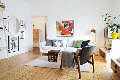 70平米田園風格公寓裝修,溫馨閑適的創意小窩