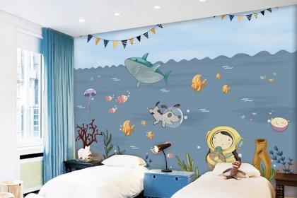美翻了的儿童房手绘背景墙设计图,孩子们一眼就爱上了