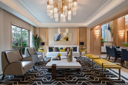 简欧风格设计图,简欧别墅设计尽显沉稳奢华之感