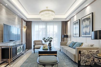 三室两厅现代中式装修,竟把120㎡空间装的如此好看