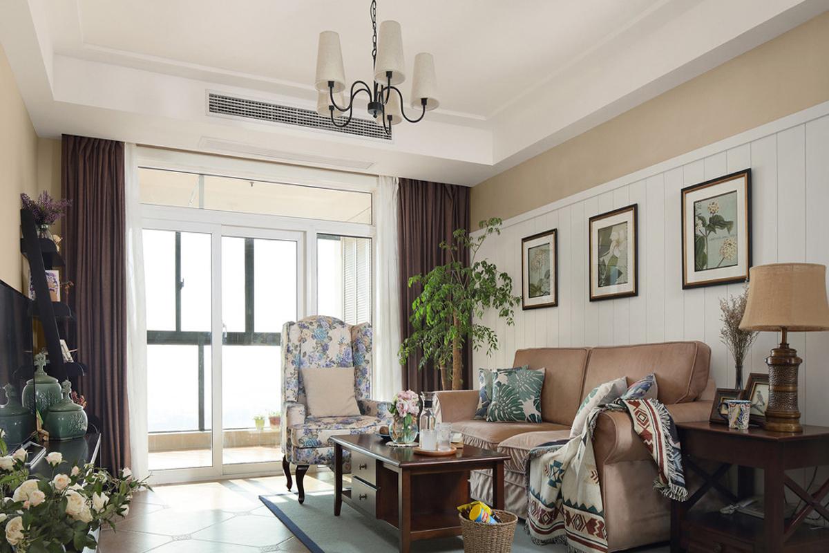 100平米美式三居室效果图,创意装修让生活更舒适