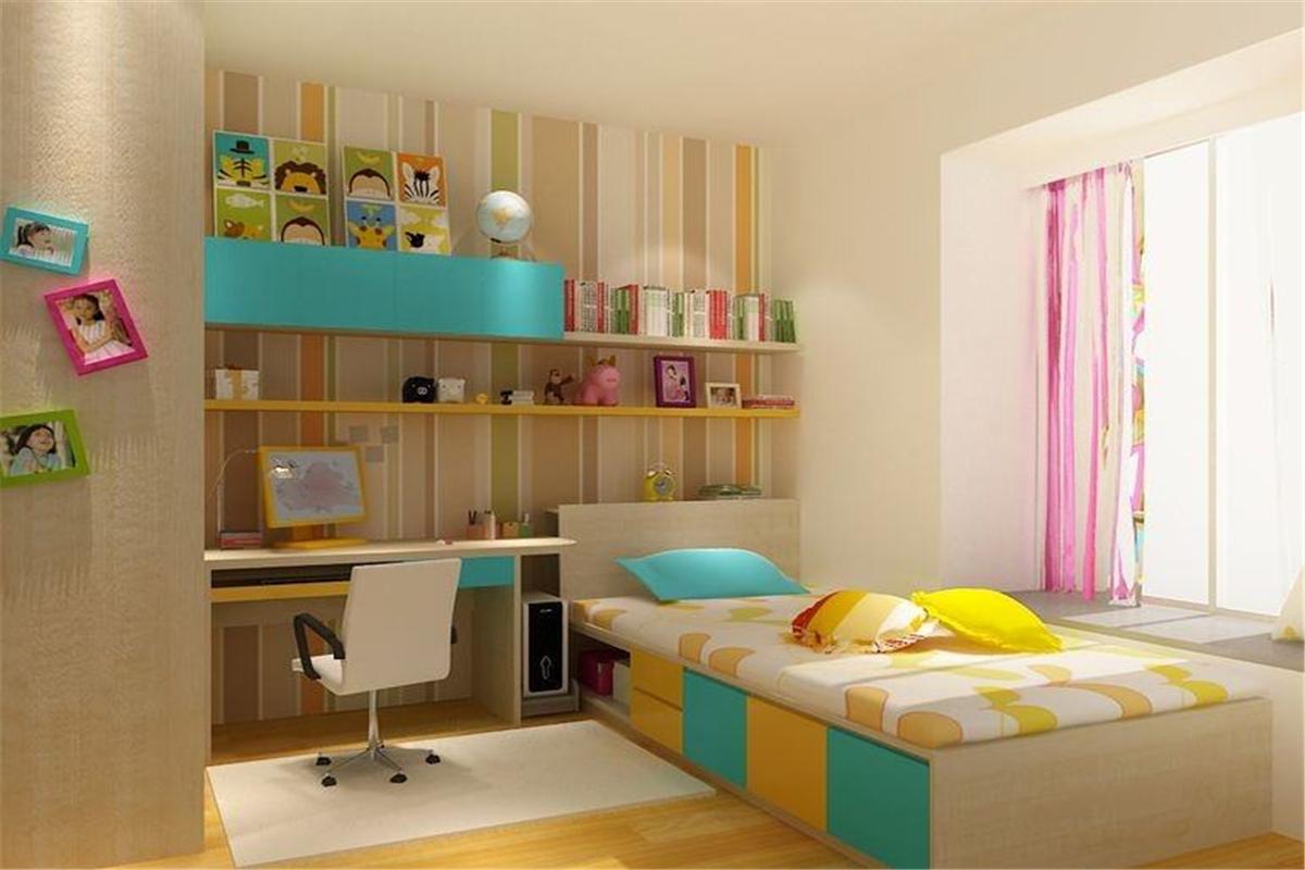 儿童房床头背景墙,转达父母对孩子的美好祝愿
