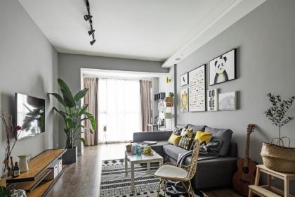 85平米两室一厅装修效果图赏析,时尚温馨的北欧两居室